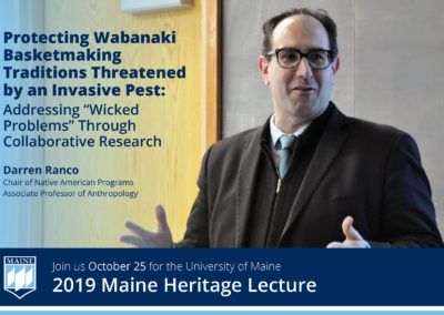 Maine Heritage Lecture