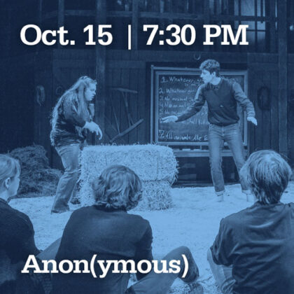 October 15 at 7:30 PM | Anonymous