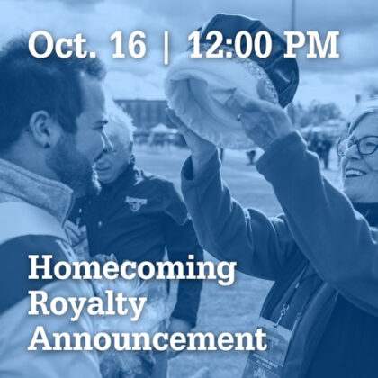 Oct 16 at 12:00PM | Homecoming Royalty Announcement