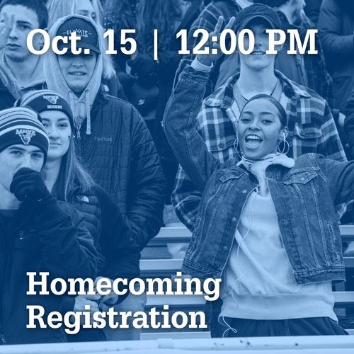 October 15 at 12:00 PM | Homecoming Registration